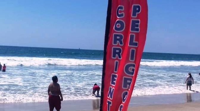 Playa de Tijuana cerrará por fuertes corrientes y marea alta. SSPM
