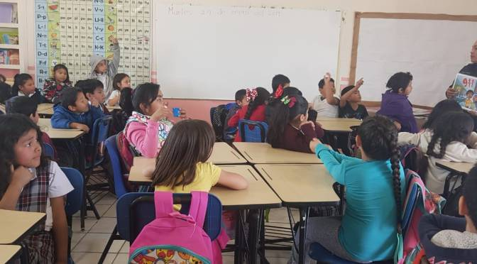 Policía Municipal imparte DARE en preescolar y primarias