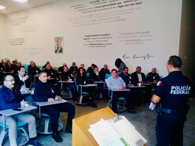 Imparten conferencia para industriales sobre Prevención de extorsión secuestro . Policía Federal