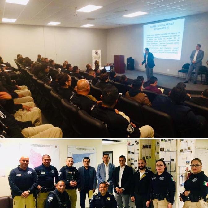 Imparten conferencia sobre Narrativa en el IPH para policías