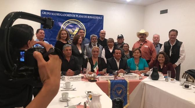 Se reúne SubProcurador de Zona con el grupo Madrugadores de Playas de Rosarito.